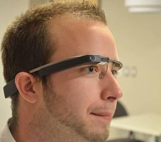 Man wearing Google Glass